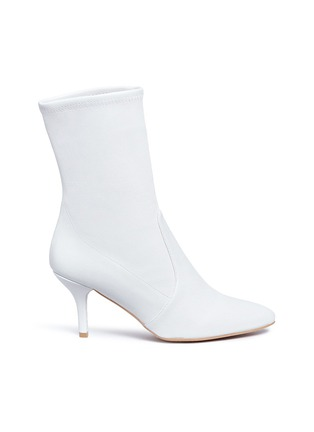 Main View - Click To Enlarge - Stuart Weitzman - 'Cling' stretch leather ankle boots