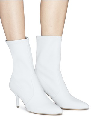 Figure View - Click To Enlarge - Stuart Weitzman - 'Cling' stretch leather ankle boots