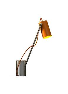 Edizioni Design Reconfigurable table lamp –Orange/Steel