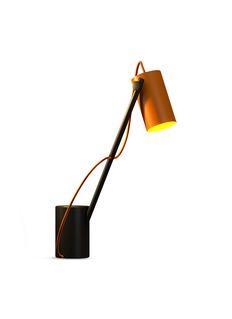 Edizioni Design Reconfigurable table lamp –Orange/Black