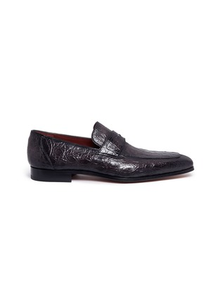 Main View - Click To Enlarge - MAGNANNI - Crocodile leather penny loafers