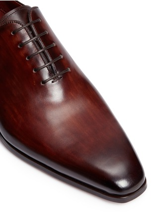 Detail View - Click To Enlarge - MAGNANNI - Stitched detail leather Oxfords