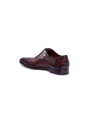 Detail View - Click To Enlarge - MAGNANNI - Crocodile leather Oxfords