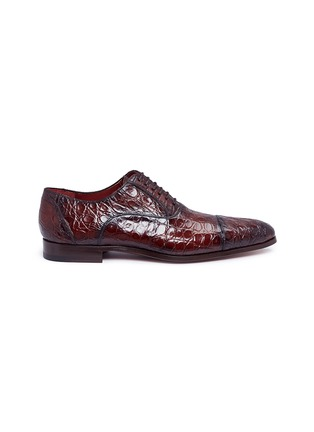 Main View - Click To Enlarge - MAGNANNI - Crocodile leather Oxfords