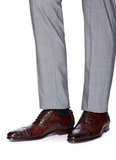 Magnanni Crocodile leather Oxfords