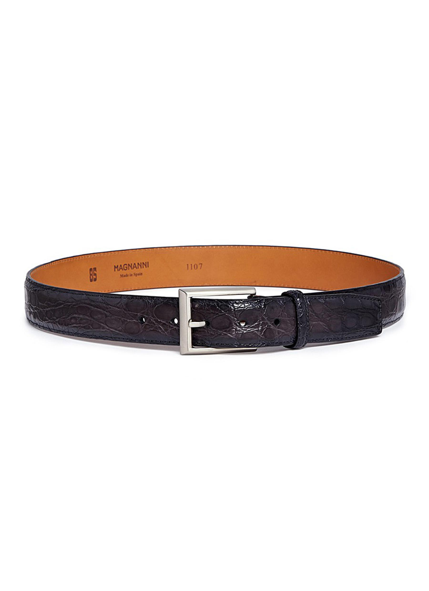 427c81809 Main View - Click To Enlarge - MAGNANNI - Crocodile leather belt