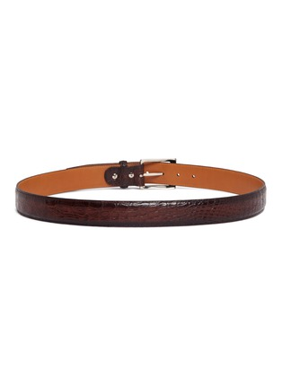 Detail View - Click To Enlarge - Magnanni - Crocodile leather belt