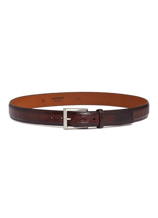 Main View - Click To Enlarge - Magnanni - Crocodile leather belt