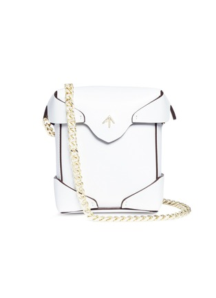 Main View - Click To Enlarge - MANU Atelier - 'PRISTINE' MICRO LEATHER CROSSBODY BAG