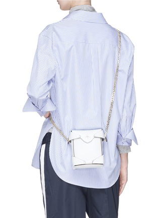 Figure View - Click To Enlarge - MANU Atelier - 'PRISTINE' MICRO LEATHER CROSSBODY BAG