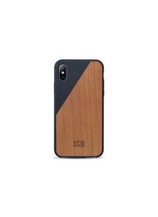 Main View - Click To Enlarge - NATIVE UNION - CLIC Wooden iPhone X case – Marine/Cherry
