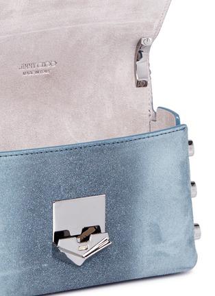 Detail View - Click To Enlarge - Jimmy Choo - 'Lockett Mini' stud ombré suede crossbody bag