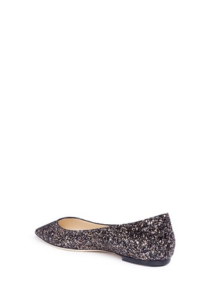 Detail View - Click To Enlarge - Jimmy Choo - 'Romy' coarse glitter skimmer flats