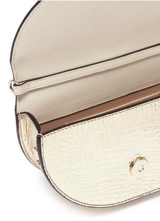 Detail View - Click To Enlarge - Chloé - 'Nile' bracelet handle metallic leather minaudière