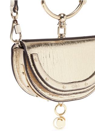 - Chloé - 'Nile' bracelet handle metallic leather minaudière
