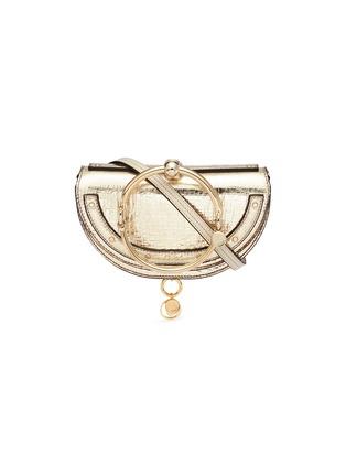 Main View - Click To Enlarge - Chloé - 'Nile' bracelet handle metallic leather minaudière