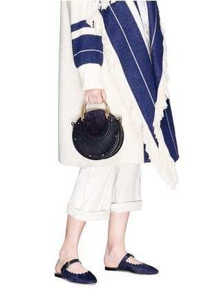 Front View - Click To Enlarge - Chloé - 'Pixie' small bracelet handle round crossbody bag
