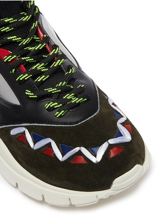 Detail View - Click To Enlarge - Valentino - 'Heroes' patchwork sneakers