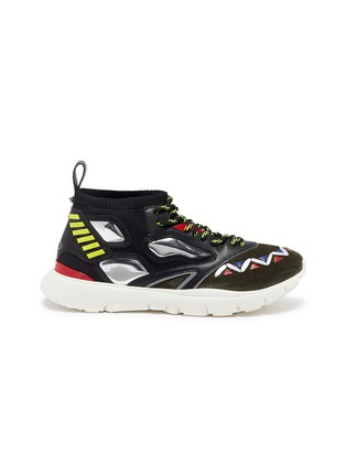 Main View - Click To Enlarge - Valentino - 'Heroes' patchwork sneakers