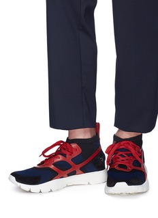 Valentino 'Sound High' caged knit sneakers