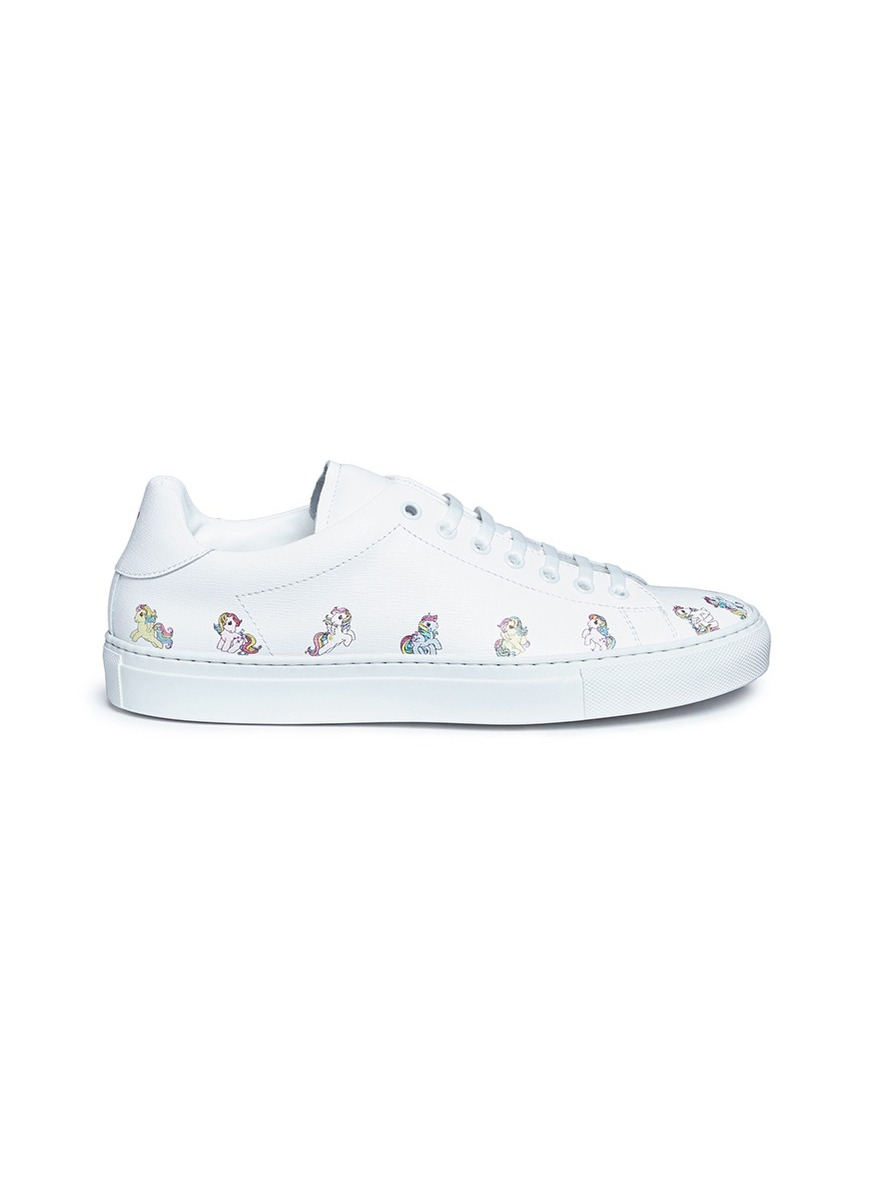 Simple Pony print leather sneakers by Joshua Sanders