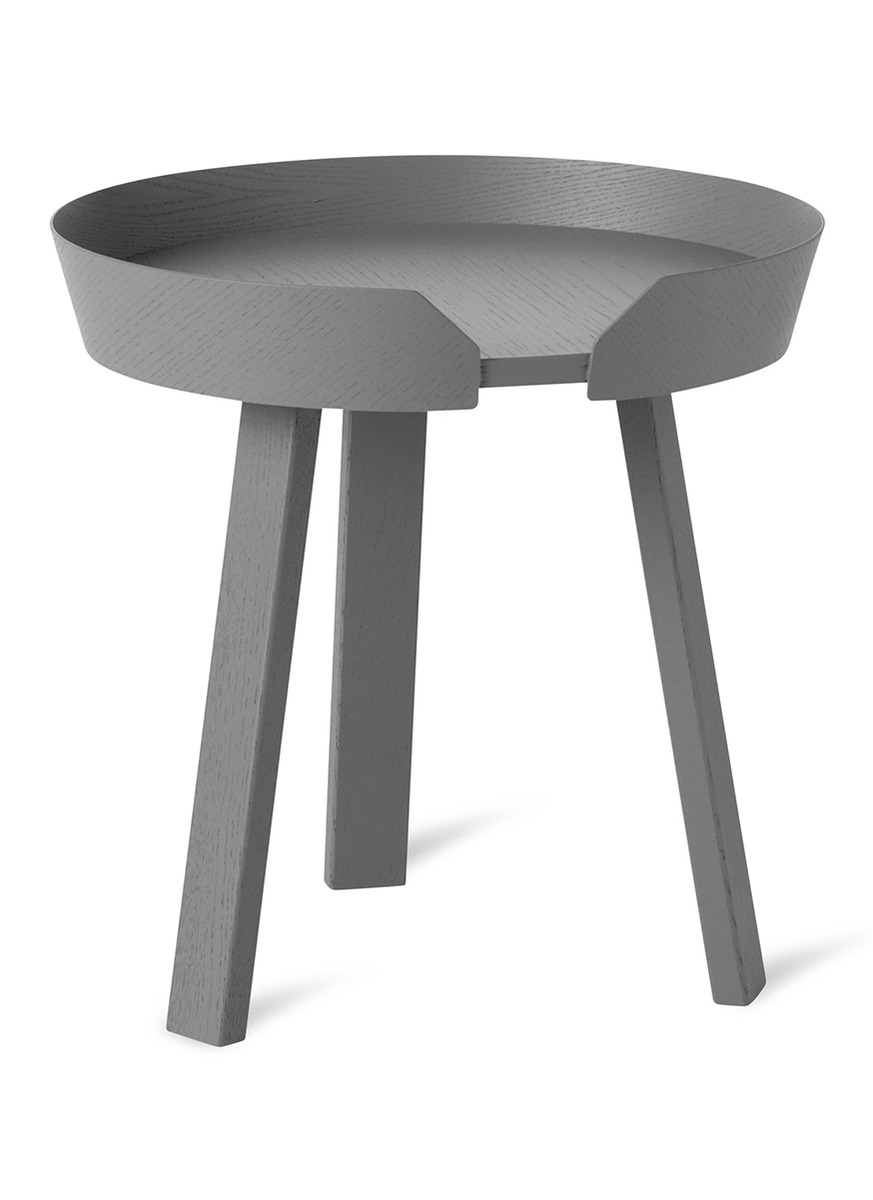 Main View - Click To Enlarge - Muuto - Around small coffee table – Dark Grey ab1d55279
