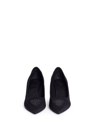 Front View - Click To Enlarge - Ash - 'Dazzel' metallic star jacquard knit pumps