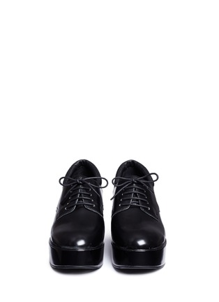Front View - Click To Enlarge - Ash - 'Madness' platform wedge leather Derbies