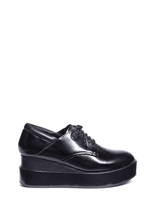 Main View - Click To Enlarge - Ash - 'Madness' platform wedge leather Derbies