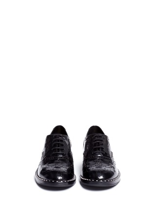 Front View - Click To Enlarge - Ash - 'Wing' leather brogue Oxfords