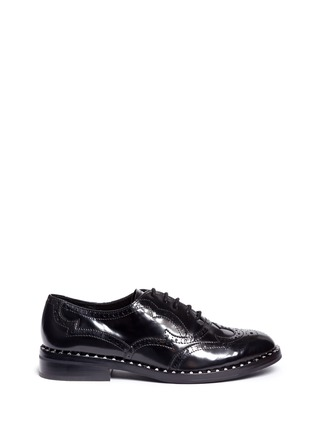 Main View - Click To Enlarge - Ash - 'Wing' leather brogue Oxfords