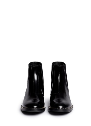 Front View - Click To Enlarge - Ash - 'Winona' stud welt leather Chelsea boots