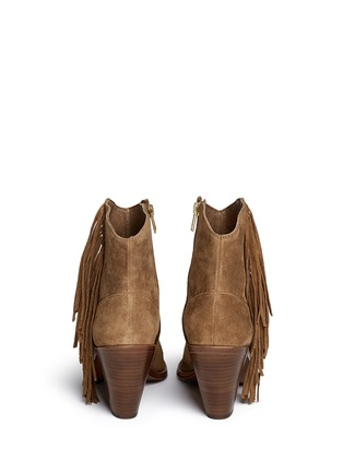 Back View - Click To Enlarge - Ash - 'Indy' star stud fringe suede boots