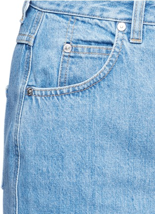 Detail View - Click To Enlarge - Closed - 'Clara' front slit denim skirt