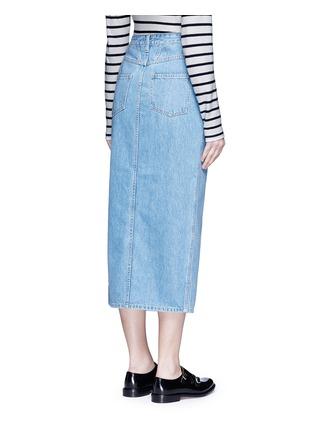 Back View - Click To Enlarge - CLOSED - 'Clara' front slit denim skirt