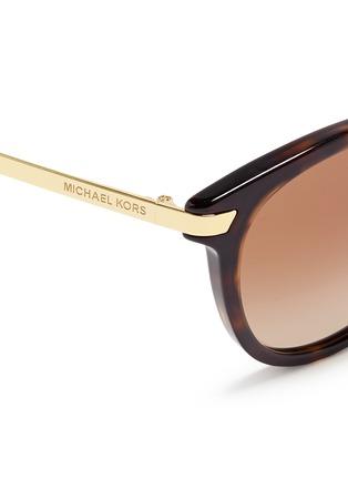 Detail View - Click To Enlarge - Michael Kors - 'Adrianna III' keyhole bridge tortoiseshell acetate sunglasses