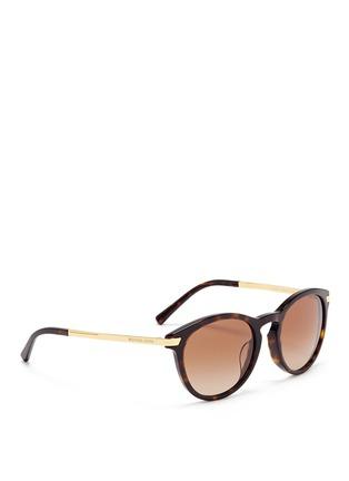 Figure View - Click To Enlarge - Michael Kors - 'Adrianna III' keyhole bridge tortoiseshell acetate sunglasses
