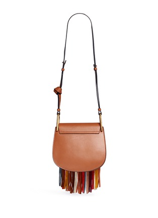 Back View - Click To Enlarge - Chloé - 'Hudson' small suede fringe leather shoulder bag