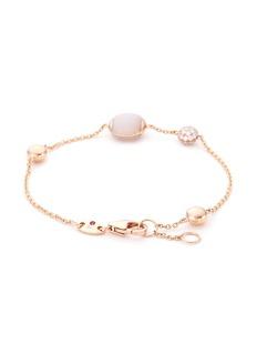 Roberto Coin Diamond jade 18k rose gold charm bracelet