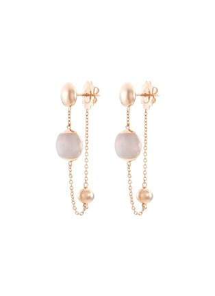 Main View - Click To Enlarge - Roberto Coin - Jade 18k rose gold beaded chain drop earrings