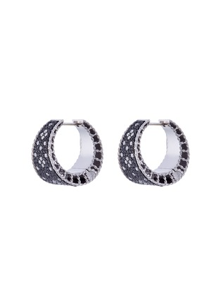 Main View - Click To Enlarge - Roberto Coin - Diamond 18k gold hoop earrings