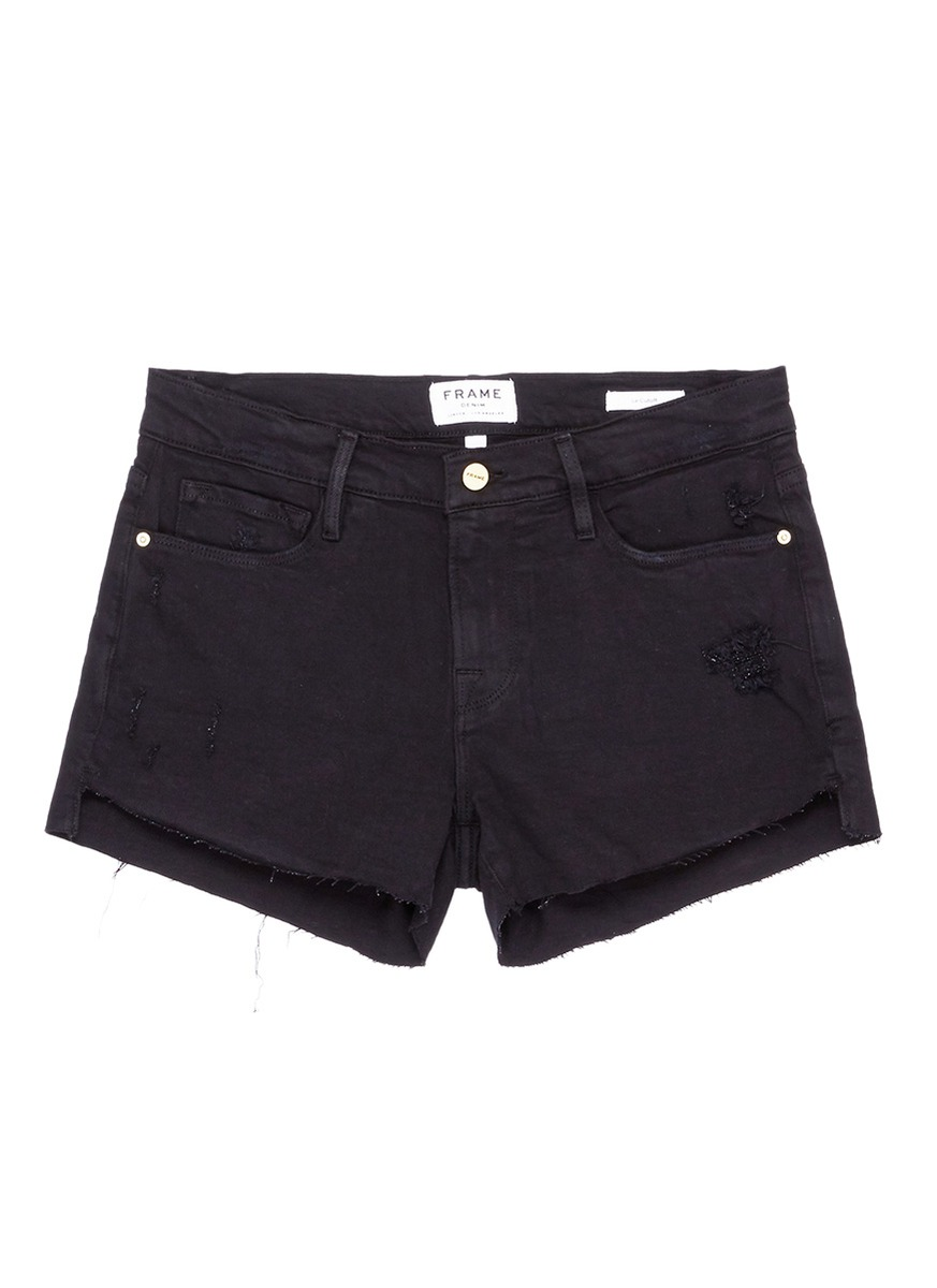 Buy Frame Denim Jeans 'Le Cut Off' frayed denim shorts