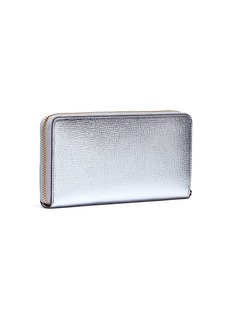 Anya Hindmarch 'Eyes' embossed large metallic leather wallet