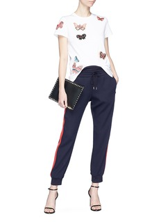Valentino Embellished butterfly appliqué T-shirt