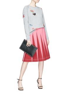 Valentino Embellished butterfly appliqué sweatshirt