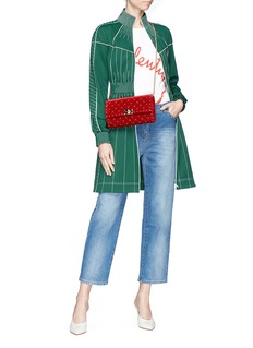 Valentino Rockstud cropped straight leg jeans
