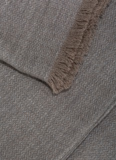 OYUNA SAAN cashmere throw – Soft Grey/Taupe