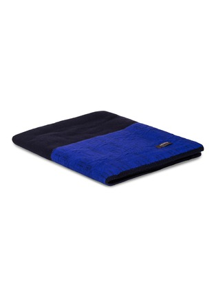 Main View - Click To Enlarge - OYUNA - ANDRO cashmere throw – Navy/Ultramarine