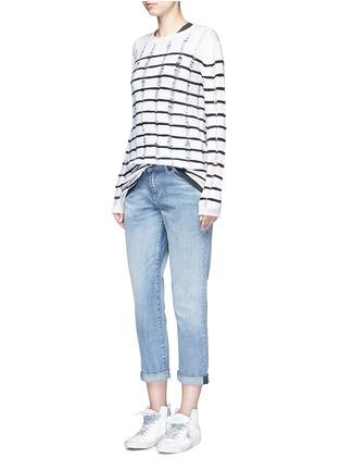 Figure View - Click To Enlarge - DENHAM - 'Monroe' acid wash boyfriend jeans