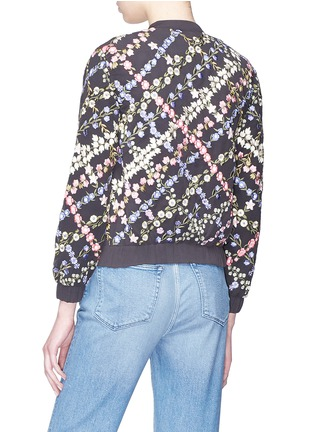 Back View - Click To Enlarge - Needle & Thread - Floral embroidered bomber jacket